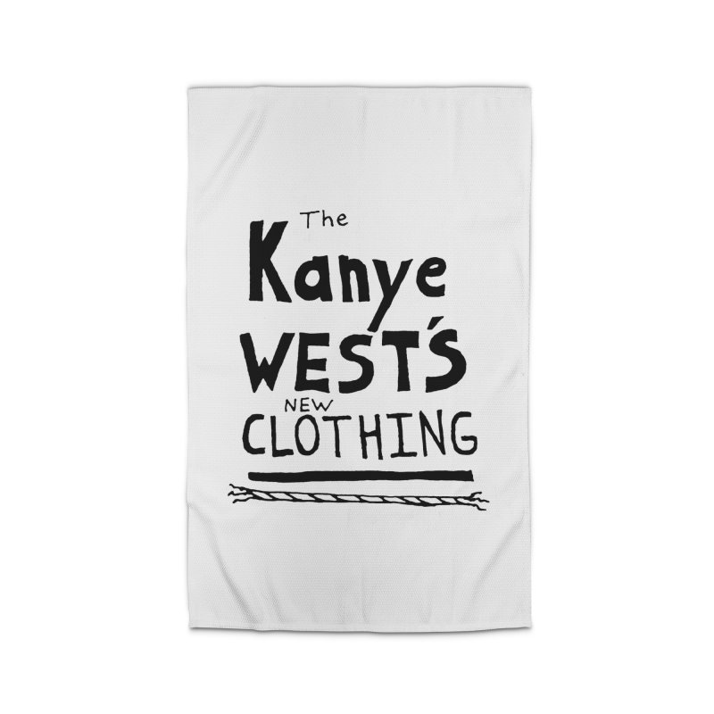 The Kanye West's New Clothing Home Rug by Chuck McCarthy's Artist Shop