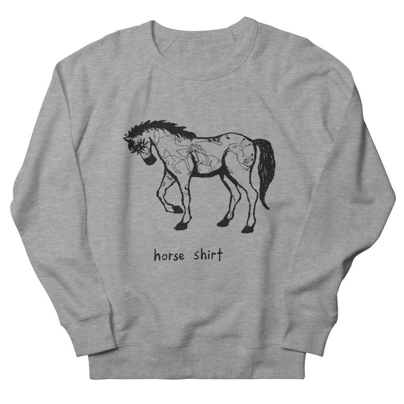 Horse Shirt Women's French Terry Sweatshirt by Chuck McCarthy's Artist Shop