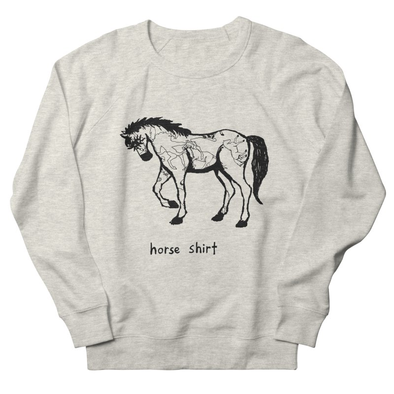 Horse Shirt Men's French Terry Sweatshirt by Chuck McCarthy's Artist Shop