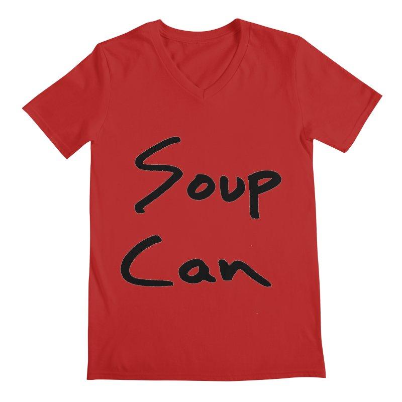 Soup Can Men's V-Neck by Chuck McCarthy's Artist Shop