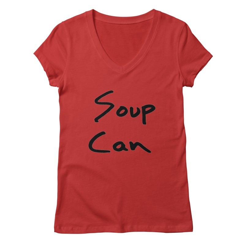 Soup Can Women's V-Neck by Chuck McCarthy's Artist Shop
