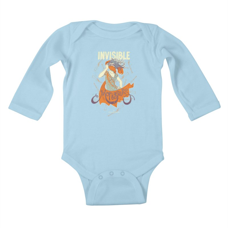 Invisible Monsters Kids Baby Longsleeve Bodysuit by The Official ChuckPalahniuk.net Shop