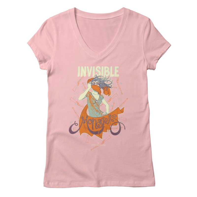 Invisible Monsters Women's V-Neck by The Official ChuckPalahniuk.net Shop