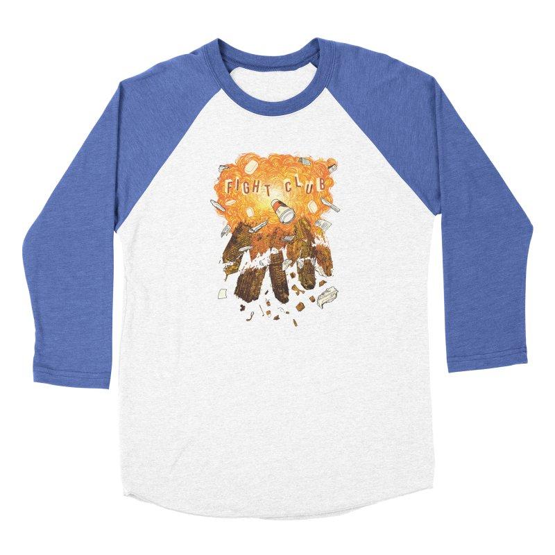 Fight Club Women's Baseball Triblend Longsleeve T-Shirt by The Official ChuckPalahniuk.net Shop