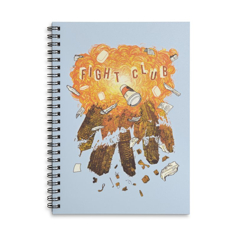 Fight Club Accessories Lined Spiral Notebook by The Official ChuckPalahniuk.net Shop