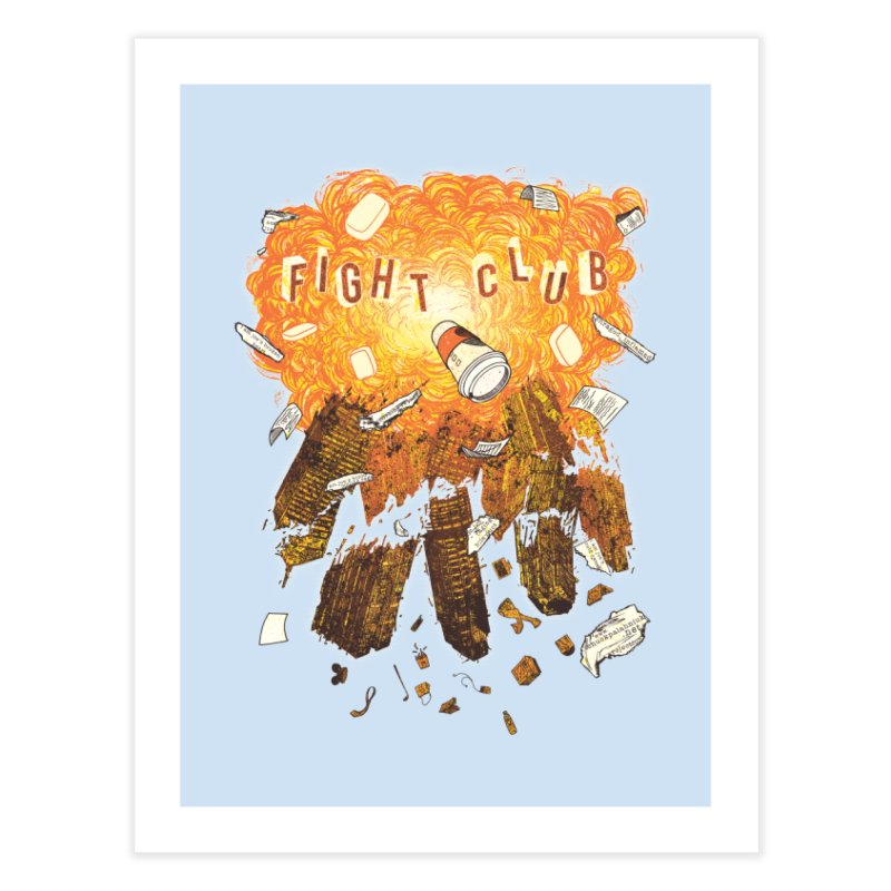 Fight Club Home Fine Art Print by The Official ChuckPalahniuk.net Shop
