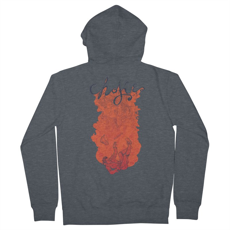 Choke Men's French Terry Zip-Up Hoody by The Official ChuckPalahniuk.net Shop