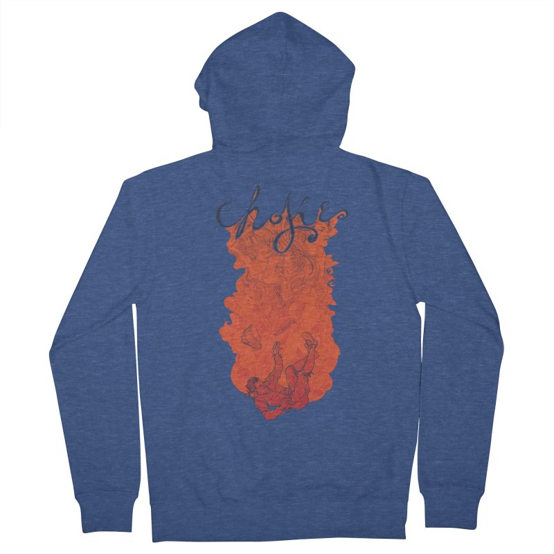 Choke Men's Zip-Up Hoody by The Official ChuckPalahniuk.net Shop