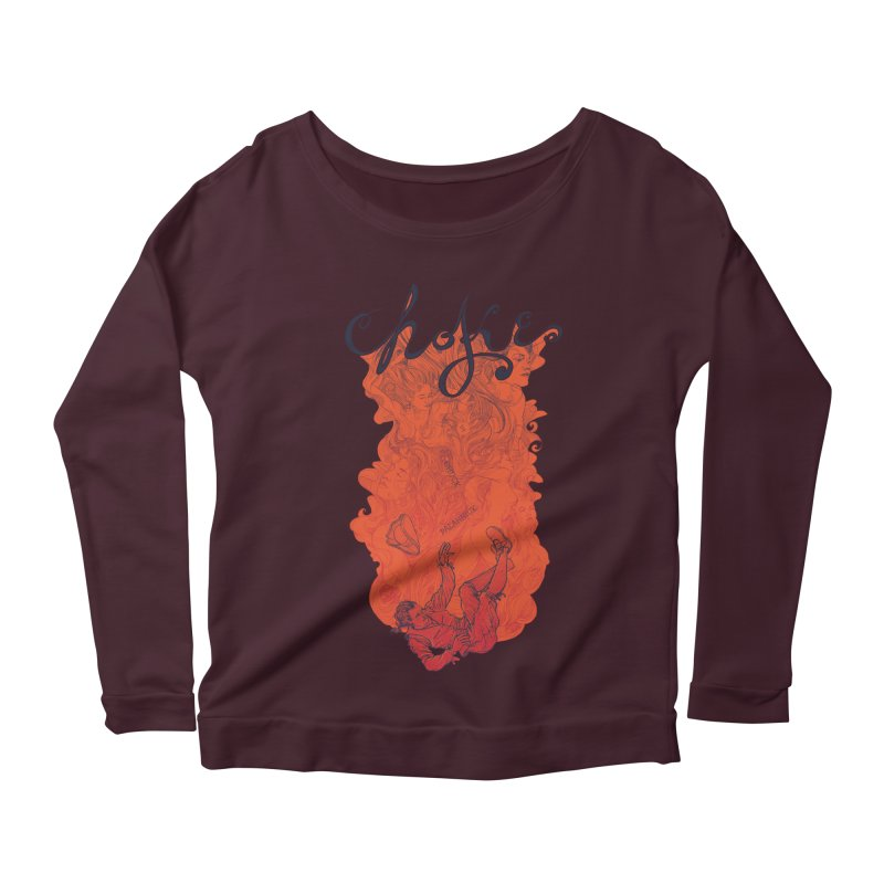 Choke Women's Longsleeve Scoopneck  by The Official ChuckPalahniuk.net Shop