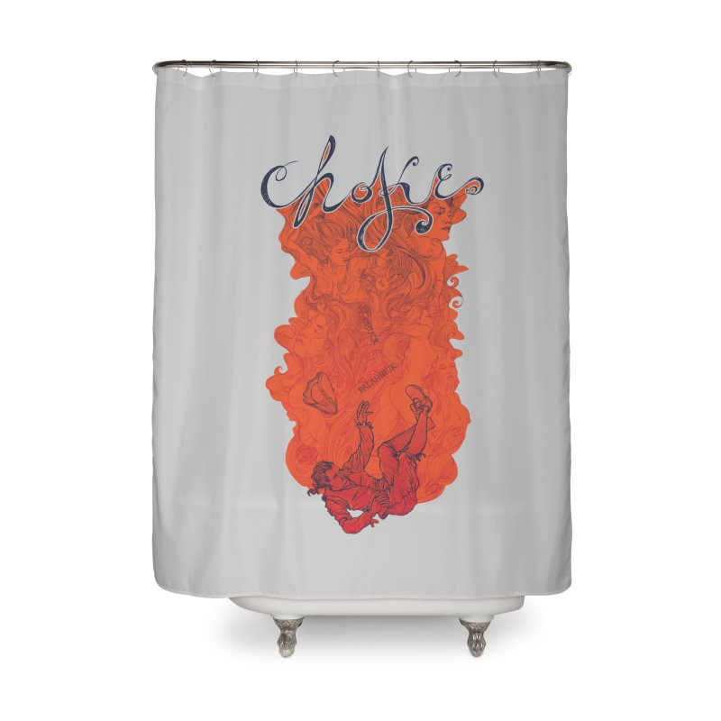 Choke Home Shower Curtain by The Official ChuckPalahniuk.net Shop