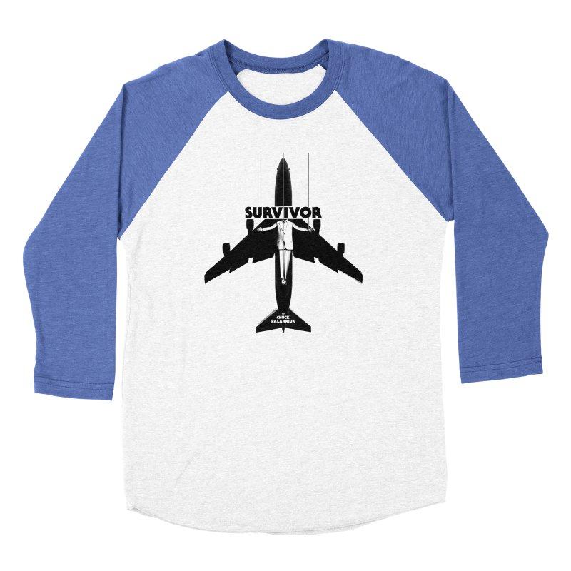 Survivor Men's Baseball Triblend Longsleeve T-Shirt by The Official ChuckPalahniuk.net Shop