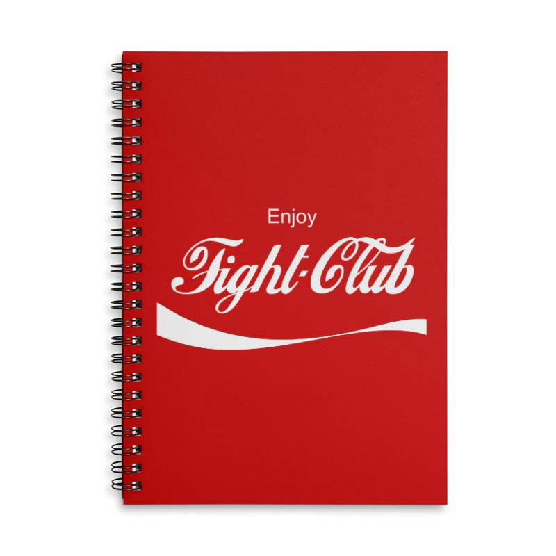 Enjoy Fight Club Accessories Lined Spiral Notebook by The Official ChuckPalahniuk.net Shop