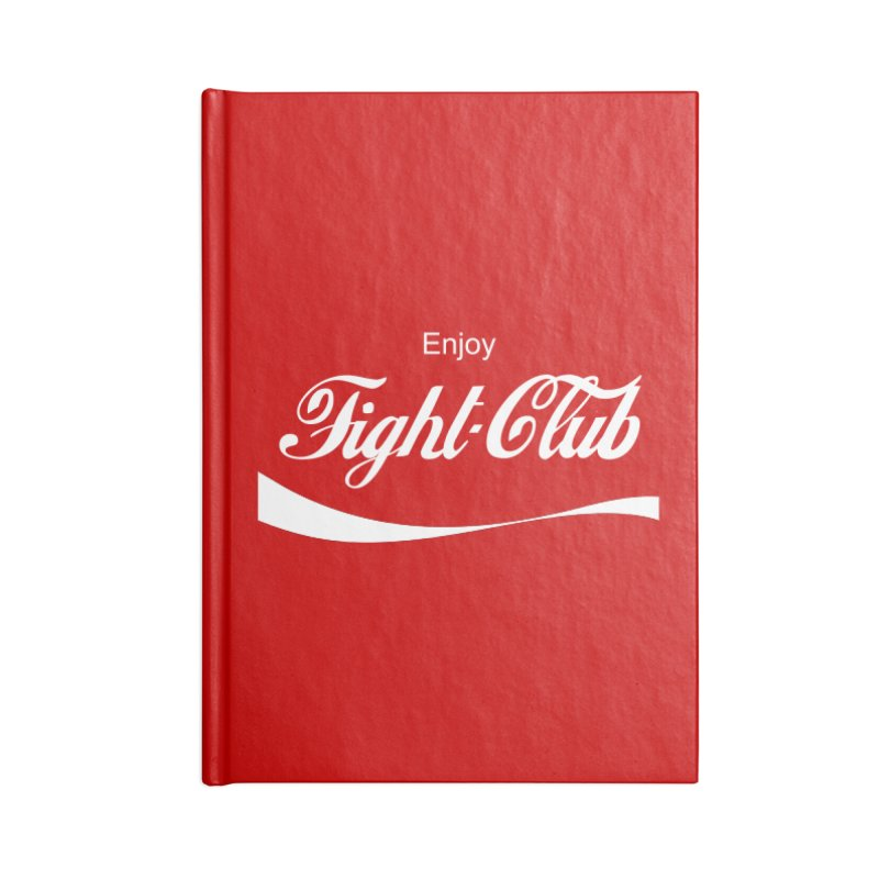 Enjoy Fight Club Accessories Lined Journal Notebook by The Official ChuckPalahniuk.net Shop