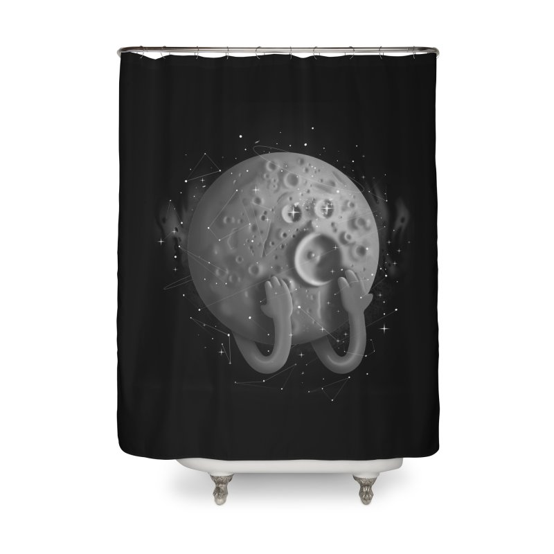 OMG, Space. Home Shower Curtain by Chuck Pavoni