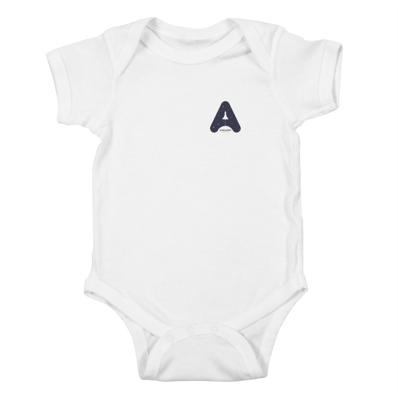 astro academy  Kids Baby Bodysuit by Chuck Pavoni