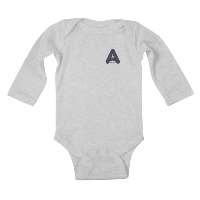 astro academy  Kids Baby Longsleeve Bodysuit by Chuck Pavoni