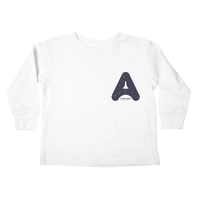astro academy Kids Toddler Longsleeve T-Shirt by Chuck Pavoni