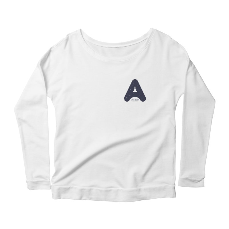astro academy Women's Scoop Neck Longsleeve T-Shirt by Chuck Pavoni