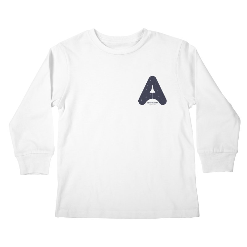 astro academy  Kids Longsleeve T-Shirt by Chuck Pavoni