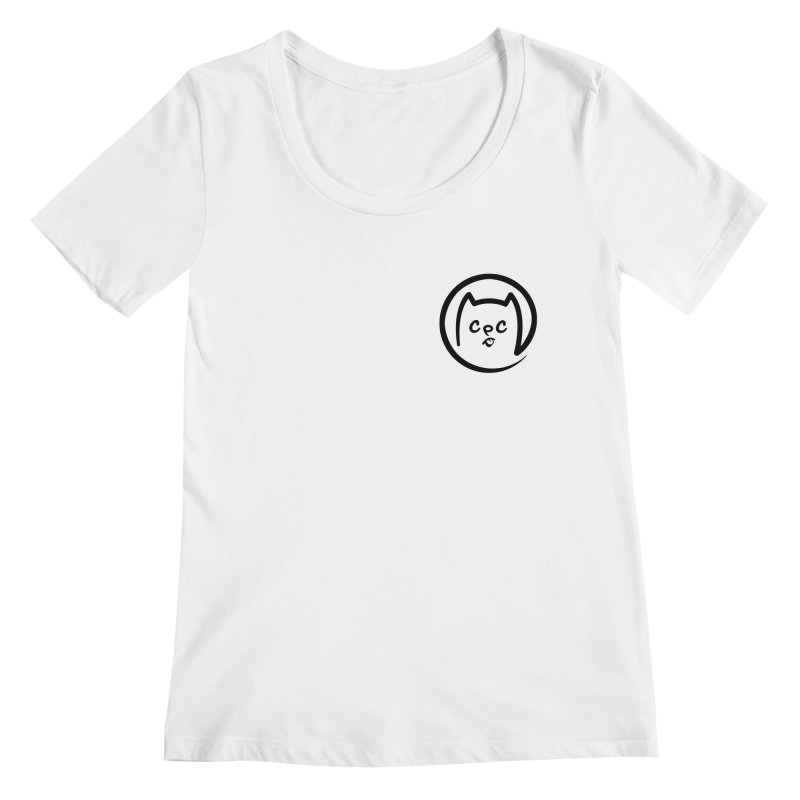 chuckpcomics logo Women's Regular Scoop Neck by Chuck Pavoni