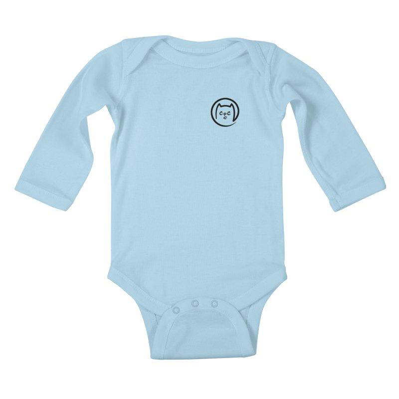 chuckpcomics logo Kids Baby Longsleeve Bodysuit by Chuck Pavoni