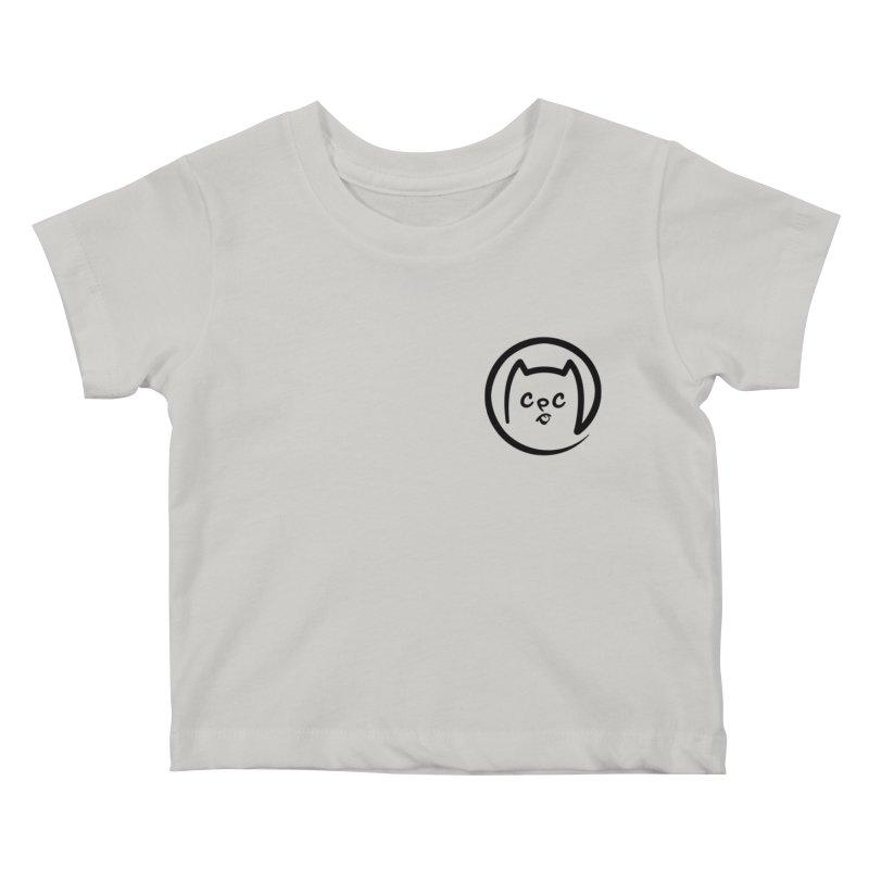 chuckpcomics logo Kids Baby T-Shirt by Chuck Pavoni