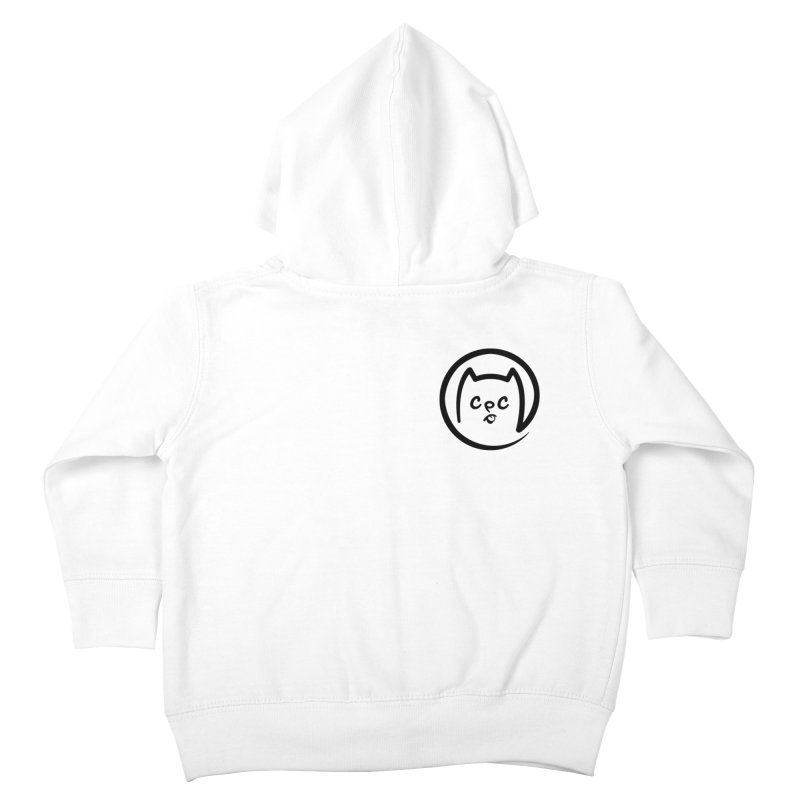 chuckpcomics logo Kids Toddler Zip-Up Hoody by Chuck Pavoni