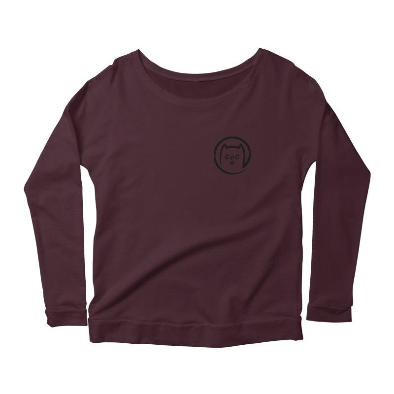 chuckpcomics logo Women's Scoop Neck Longsleeve T-Shirt by Chuck Pavoni