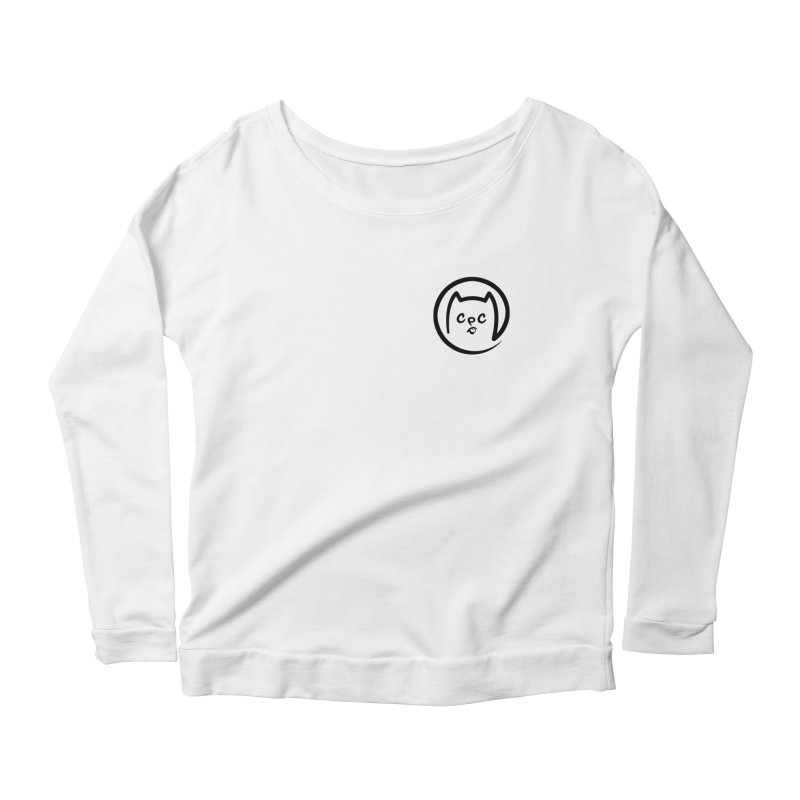 chuckpcomics logo Women's Scoop Neck Longsleeve T-Shirt by Chuck Pavoni