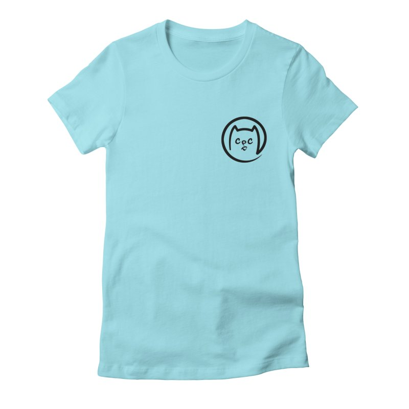 chuckpcomics logo Women's Fitted T-Shirt by Chuck Pavoni