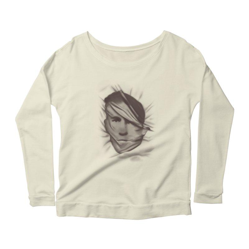 belie Women's Scoop Neck Longsleeve T-Shirt by Chuck Pavoni