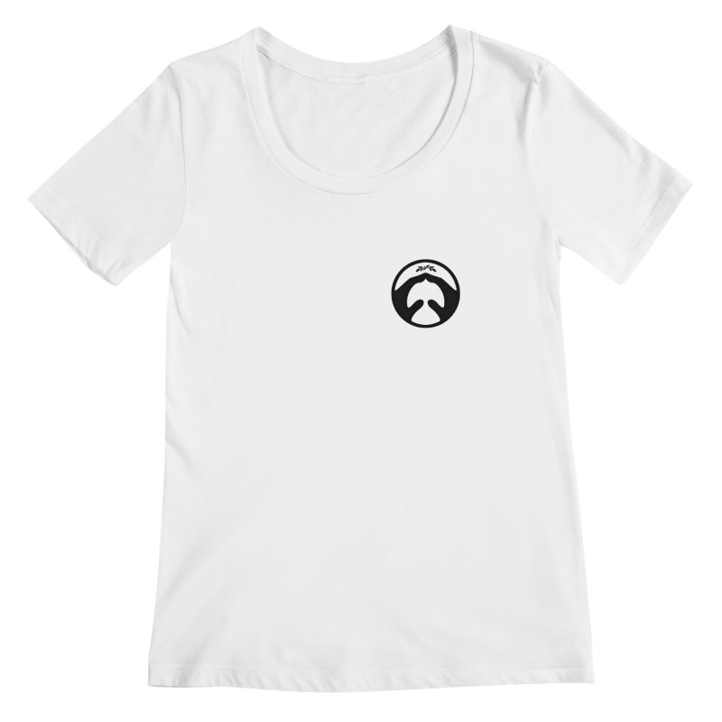 pray for peace Women's Scoopneck by Chuck Pavoni