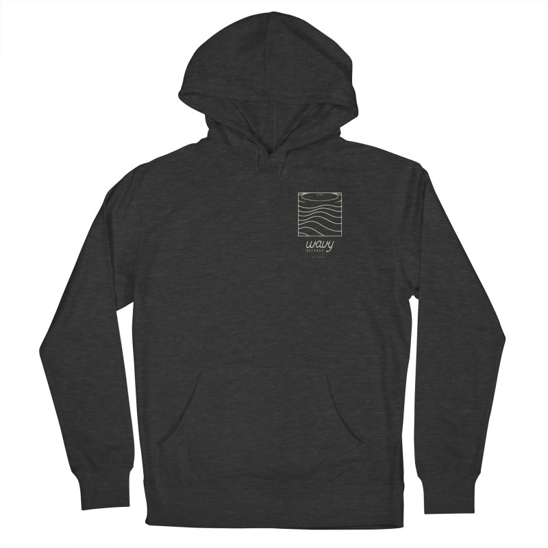 wavy records Women's French Terry Pullover Hoody by Chuck Pavoni