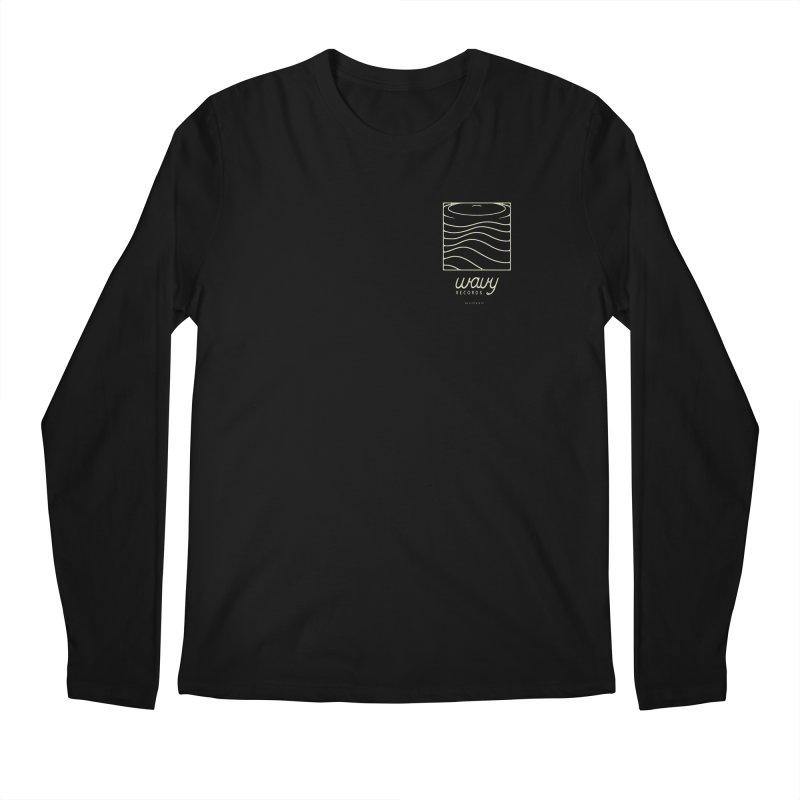 wavy records Men's Regular Longsleeve T-Shirt by Chuck Pavoni