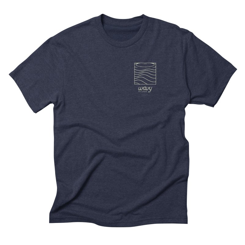wavy records Men's Triblend T-Shirt by Chuck Pavoni
