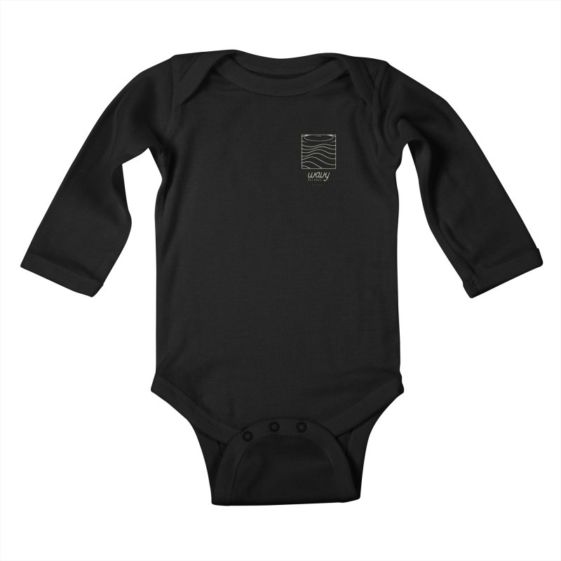 wavy records Kids Baby Longsleeve Bodysuit by Chuck Pavoni