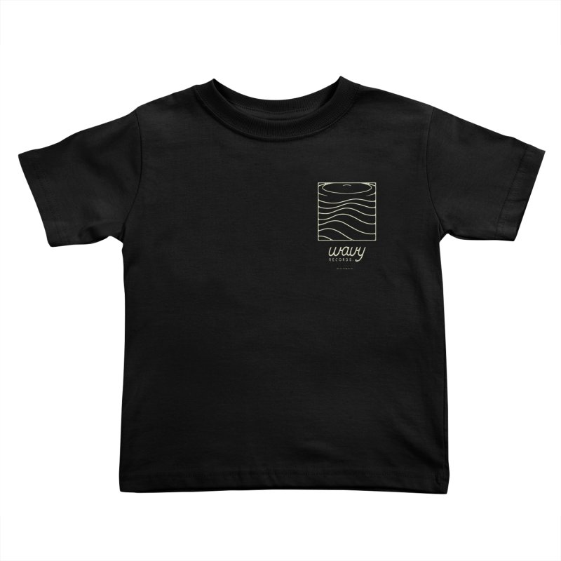 wavy records Kids Toddler T-Shirt by Chuck Pavoni
