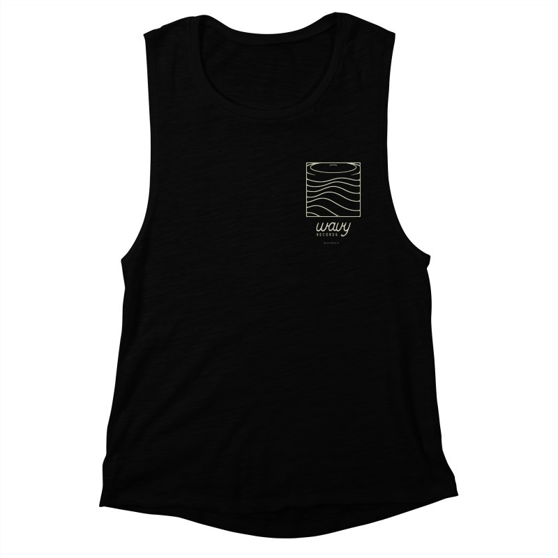wavy records Women's Muscle Tank by Chuck Pavoni