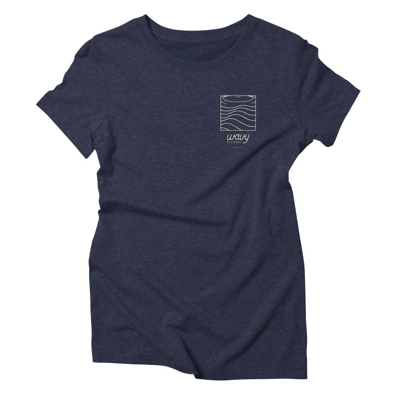 wavy records Women's T-Shirt by Chuck Pavoni