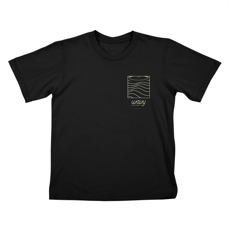 wavy records Kids T-Shirt by Chuck Pavoni