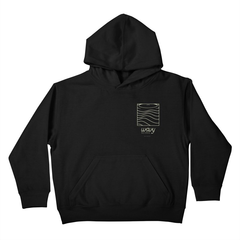wavy records Kids Pullover Hoody by Chuck Pavoni