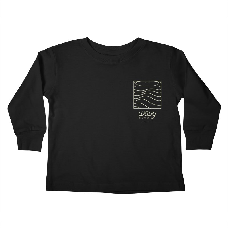 wavy records Kids Toddler Longsleeve T-Shirt by Chuck Pavoni