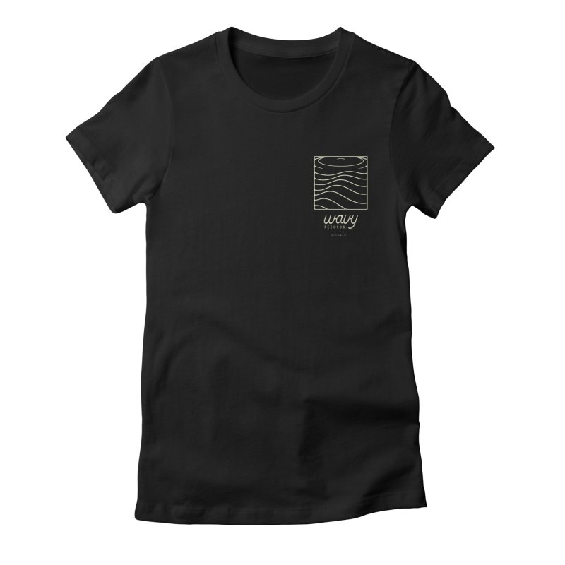 wavy records Women's T-Shirt by Chuck Pavoni