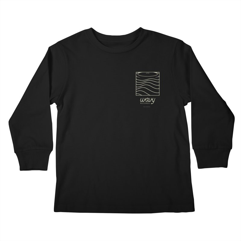 wavy records Kids Longsleeve T-Shirt by Chuck Pavoni