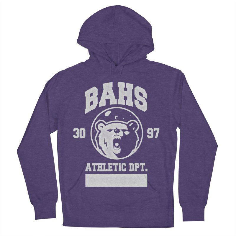 buzz Aldrin athletic dpt. Men's French Terry Pullover Hoody by Chuck Pavoni