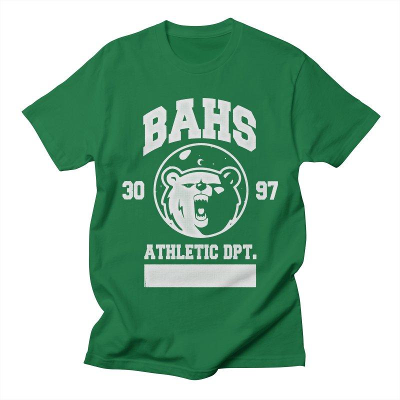 buzz Aldrin athletic dpt. Men's Regular T-Shirt by Chuck Pavoni