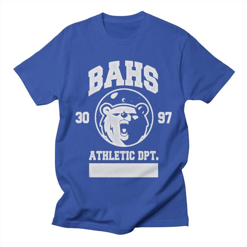 buzz Aldrin athletic dpt. Women's Regular Unisex T-Shirt by Chuck Pavoni