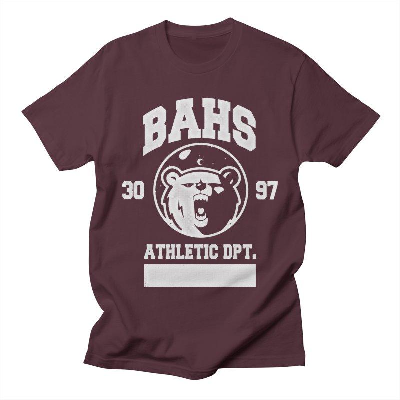 buzz Aldrin athletic dpt. Men's T-Shirt by Chuck Pavoni