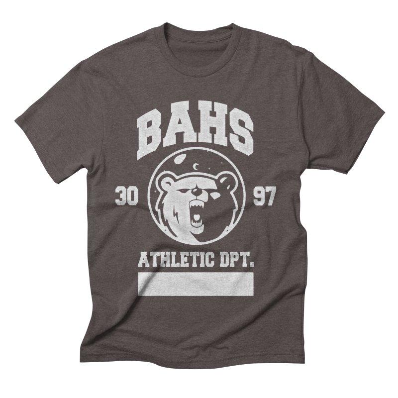 buzz Aldrin athletic dpt. Men's Triblend T-Shirt by Chuck Pavoni