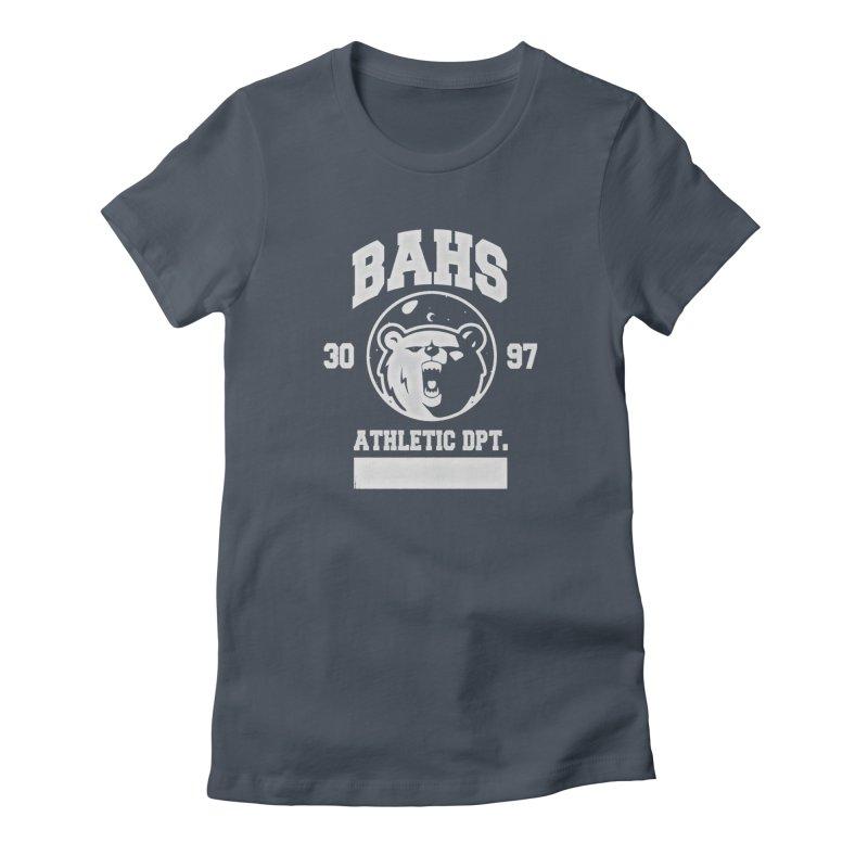 buzz Aldrin athletic dpt. Women's T-Shirt by Chuck Pavoni